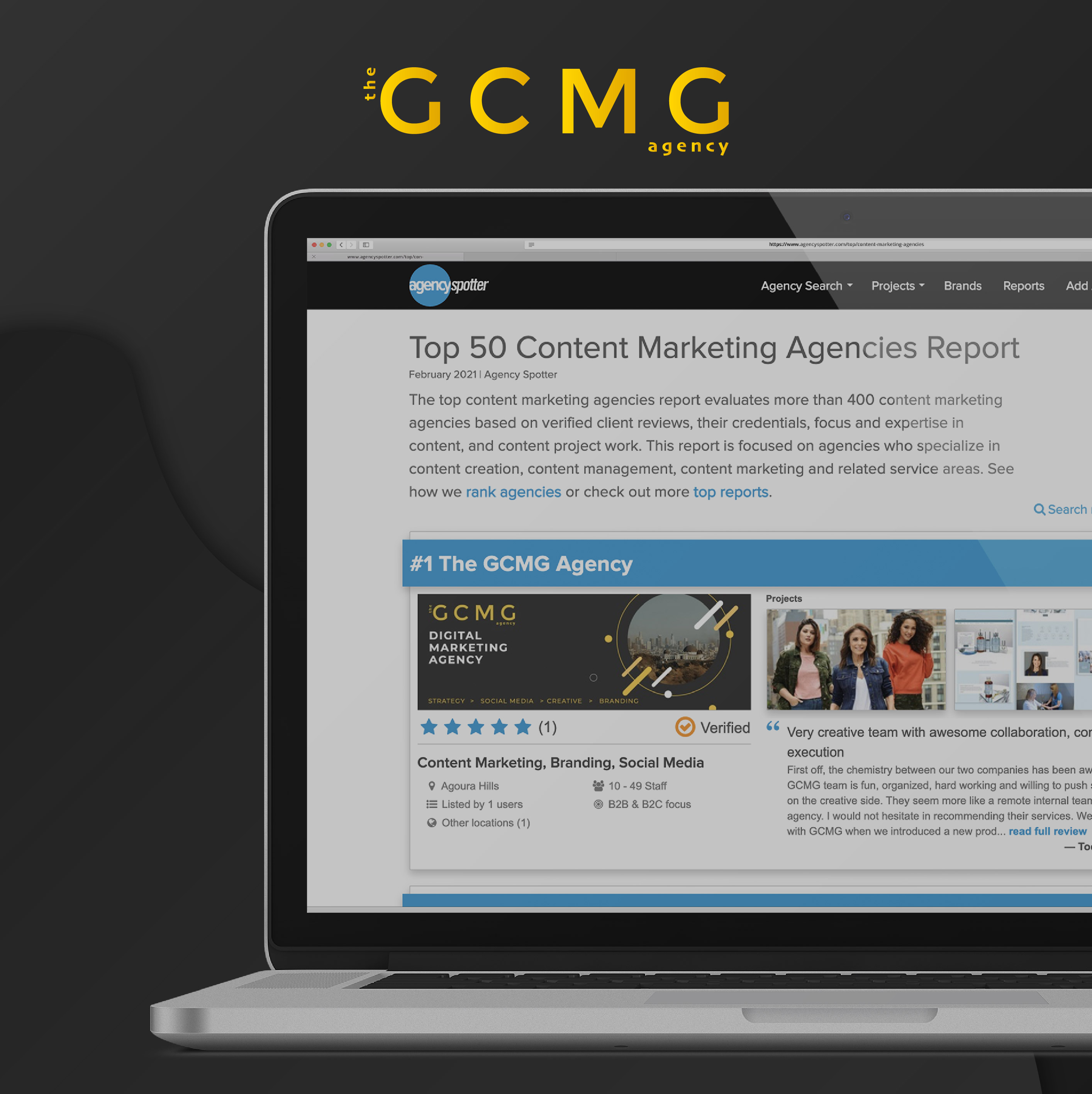 THE GCMG AGENCY NAMED AS NO. 1 CONTENT MARKETING AGENCY