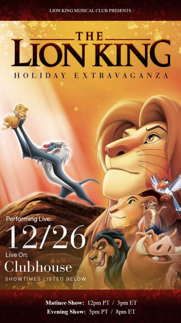 Lion King Event Launches on Clubhouse app to Spread Joy in the Digital Space