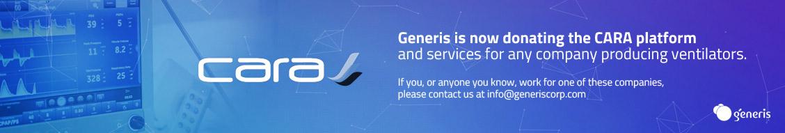 Generis Donate CARA Platform to Ventilator Manufacturers