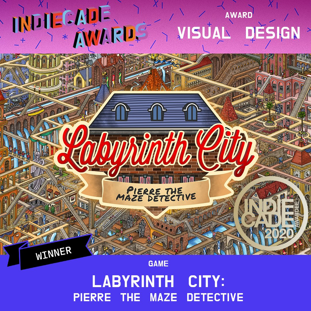 IndieCade 2020 - Labyrinth City Awarded Visual Design