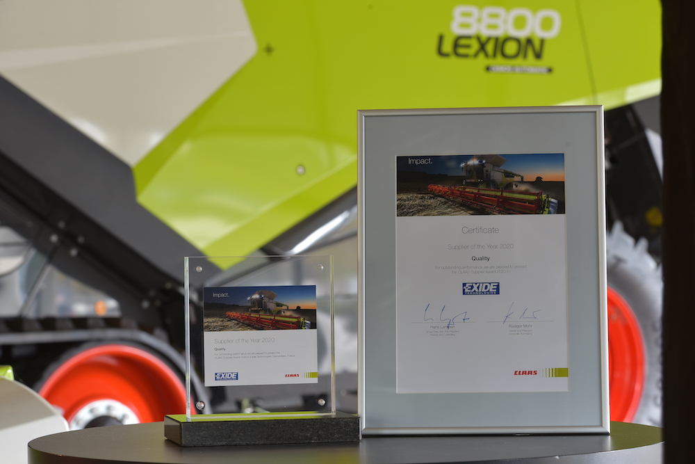 """Exide Wins """"Supplier of the Year Award"""" from CLAAS Group"""