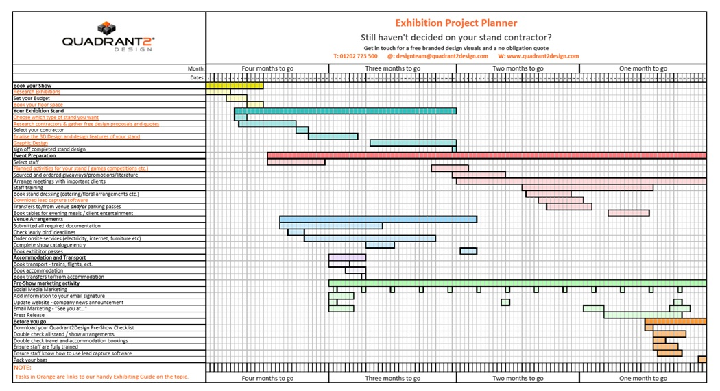 Quadrant2Design create Free Exhibition Planning Tool to help Small Businesses get back into Trade Show Marketing