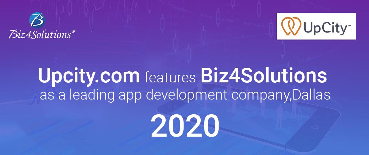 Biz4Solutions shines amongst top 10 app development companies in Dallas on Upcity