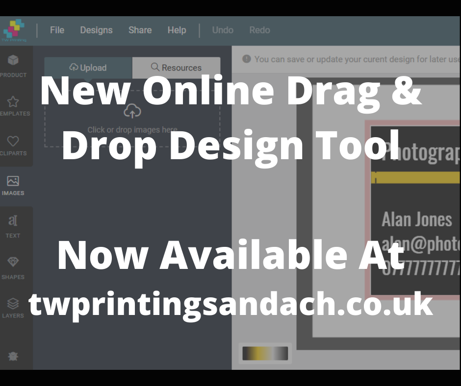New Drag And Drop Designer For Designing Your Print!