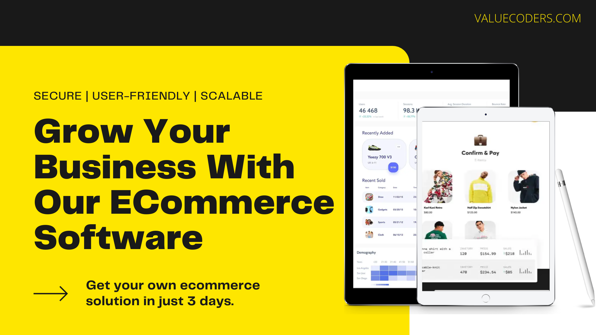 ValueCoders Offering Robust  Custom eCommerce Solution to Startups