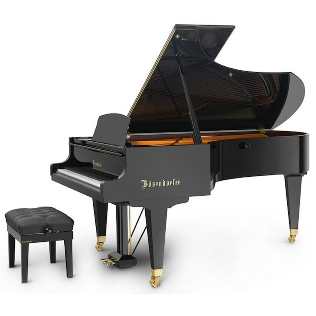Beautiful Black Ebony Bosendorfer Grand Piano Hammers for $53,125 at Ripley Auctions