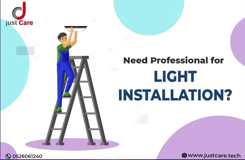 Expert Light Fixture Installation Service & Repair in Dubai | Electrician AED 75