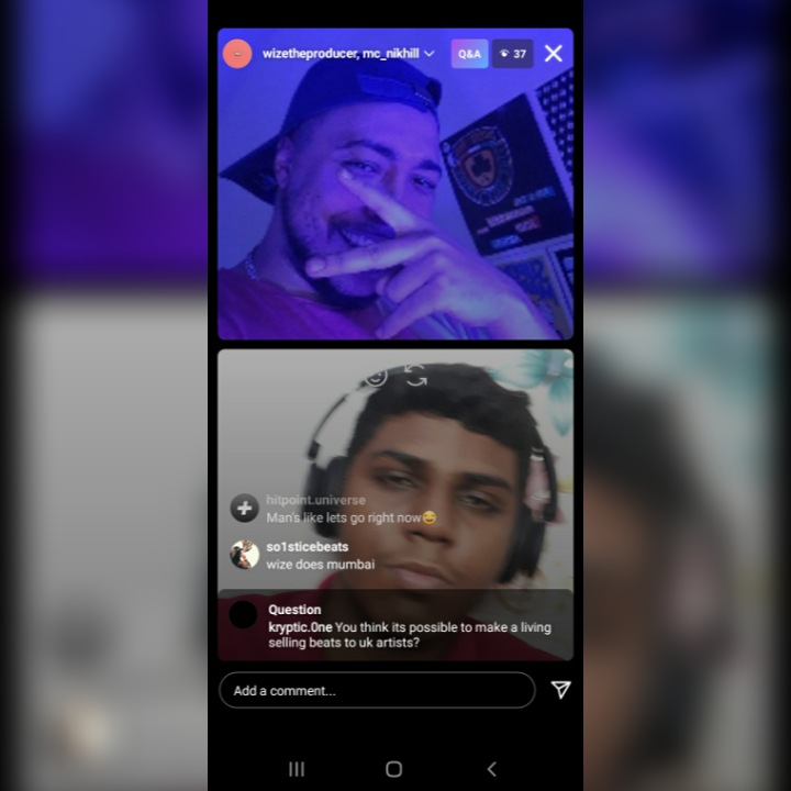 """"""" Wize """" The Producer From UK and MC NIKHIL (Rapper) From Indian Did a banger performance on Instagram live together"""