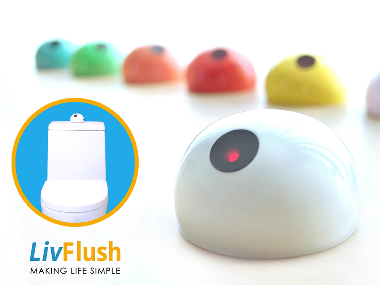 LivFlush Launches the World's First Add-On Touchless Home-Use Toilet Flush Sensor