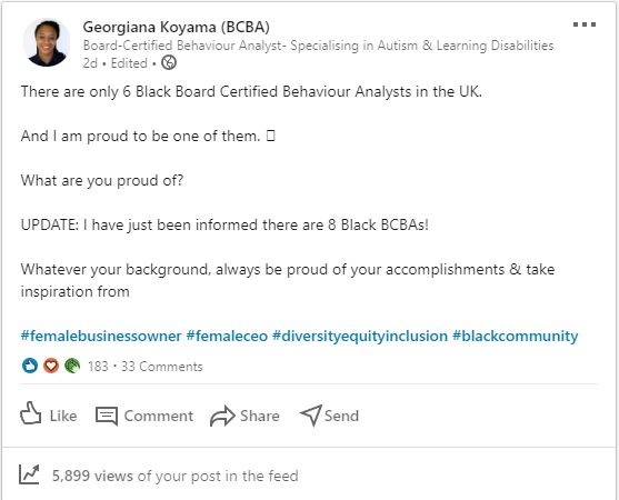 Why are there only 7 Black Board-Certified Behaviour Analysts in the UK?