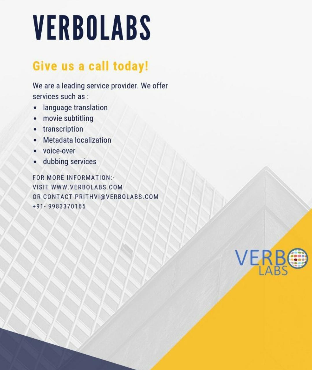 Language Translation Service Provider Company   Verbolabs