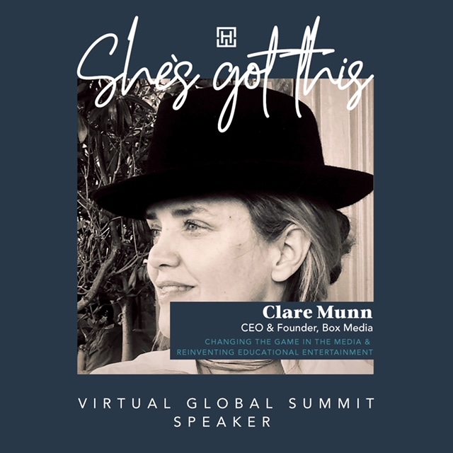 Clare Munn to speak at WEALTHiHer 'She's Got This' Global Virtual Summit