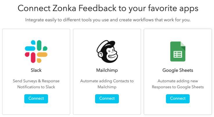 Zonka Feedback rolls out Integrations with Slack, Google Sheets, and Mailchimp