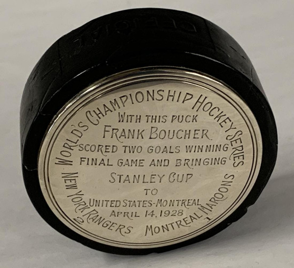 Hockey Puck Used in the Final Game of the 1928 Stanley Cup Sells For $66,000 at Weiss Auctions