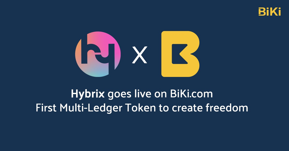 BiKi.com Lists Hybrix, First Multi-Ledger Token Creating Freedom of Transactions