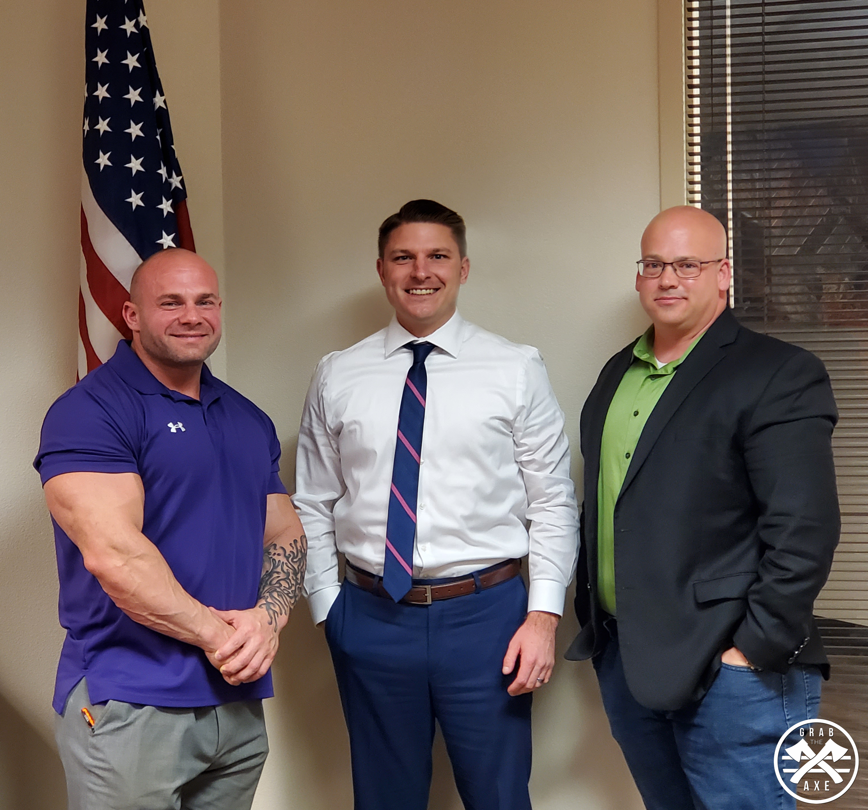 District Director Ken Fuellbier, from Arizona's 8th Congressional Representative Debbie Lesko's staff, meets with Grab The Axe and members of the (NSBA) National Small Business Association.