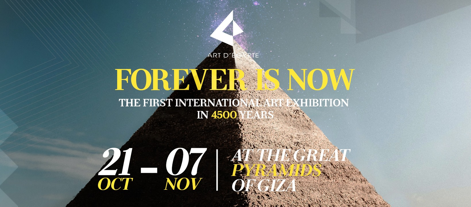 """""""Forever Is Now"""": Egypt's First Contemporary Art Exhibition at Giza Pyramids in 4500 Years"""