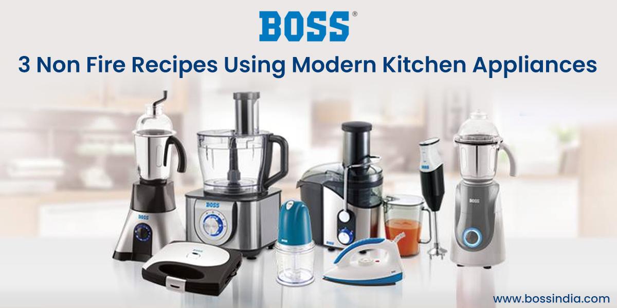 3 Non Fire Recipes Using Modern Kitchen Appliances