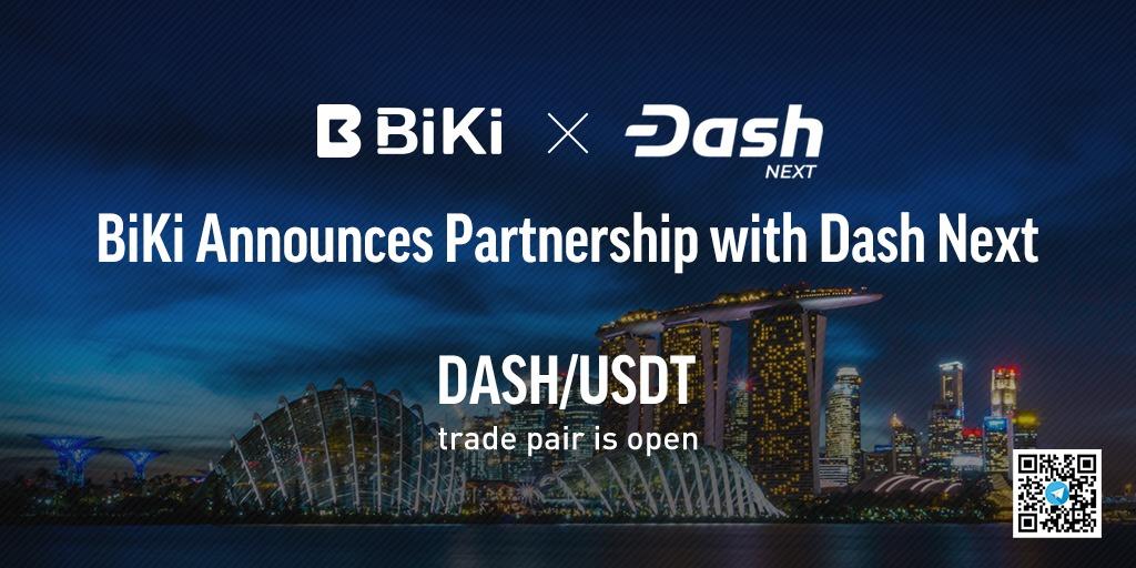BiKi.com Announces Partnership with Dash Next