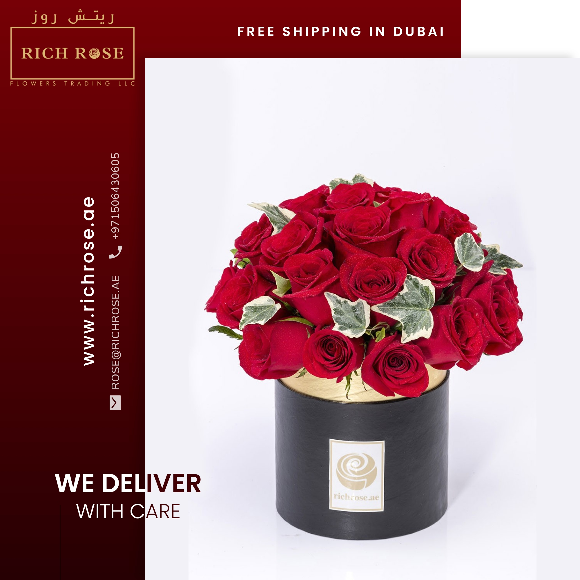 Richrose launches Online Flowers Boxes Delivery Service in Dubai, Sharjah