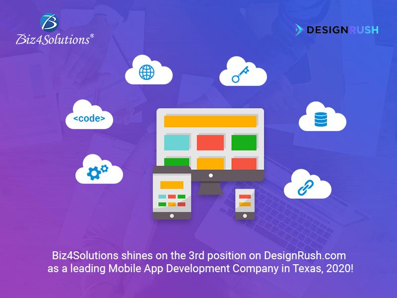 Designrush.com lists Biz4Solutions on 3rd position amongst top app development companies, Texas, 2020!