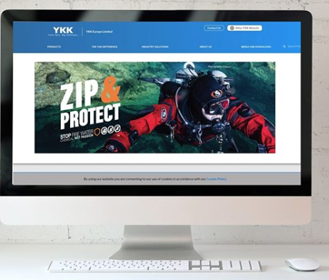 """Warrington digital design agency launches a new website for YKK. """