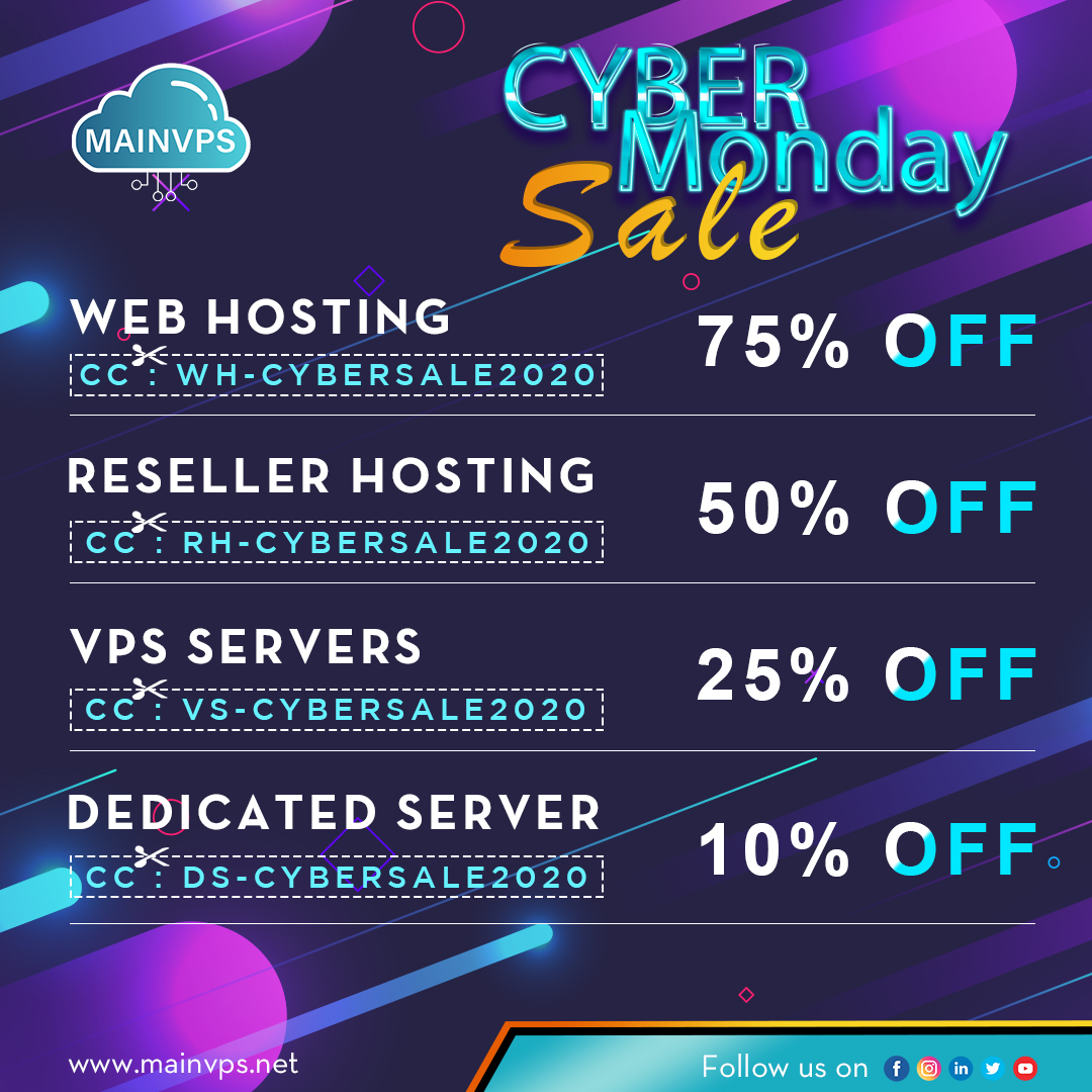 Get the Bumper Discount on Cyber Monday 2020 in the company history