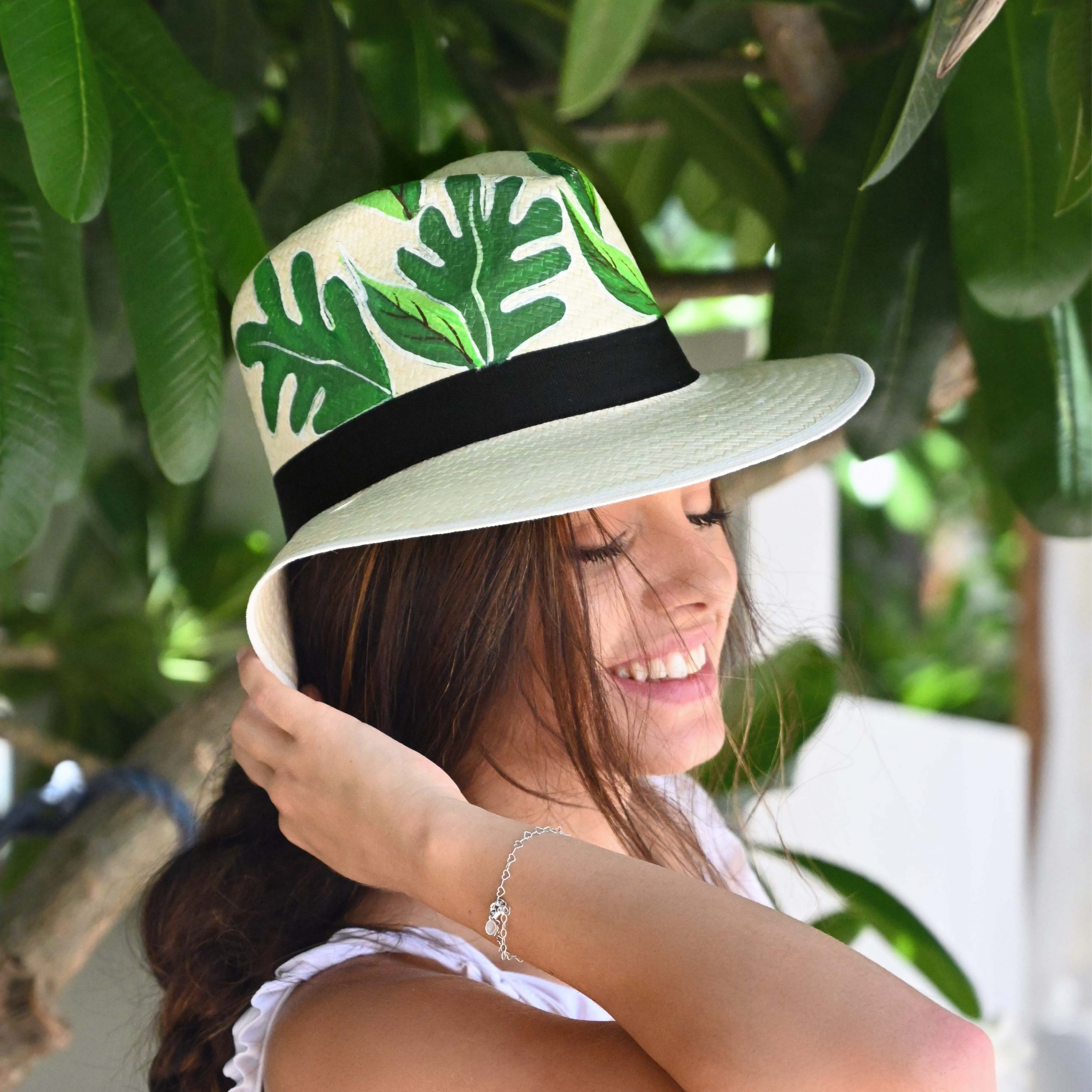 Beachin' in style with Colombianas: Not only a hat but wearable art for your head