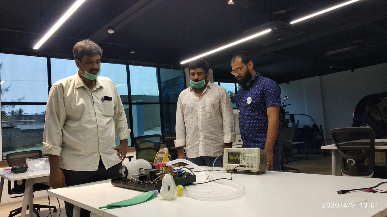 AIC Raise Backed Startup makes a low cost Ventilator by Re-engineering