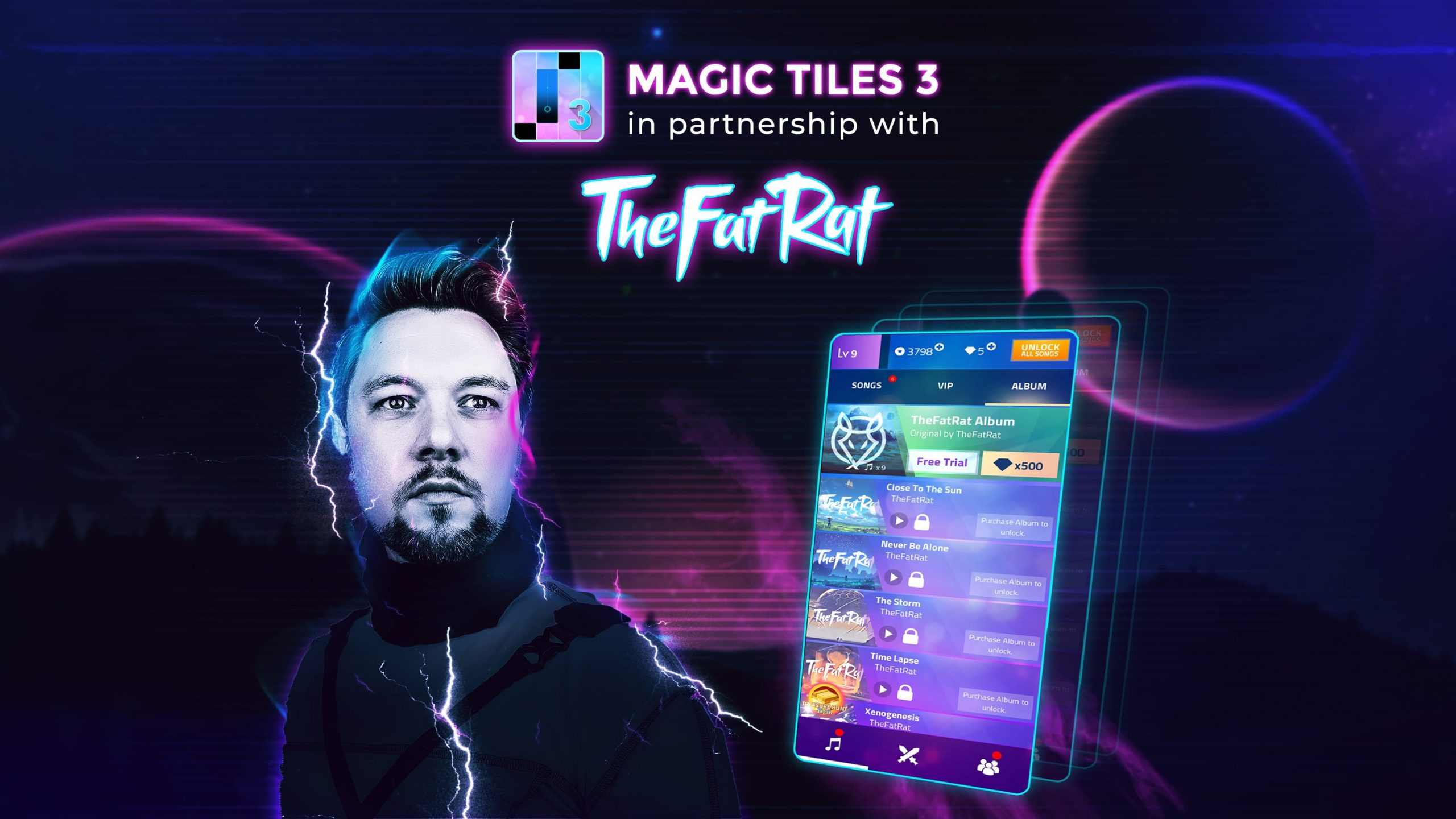 TheFatRat teams up with Amanotes to feature music in Magic Tiles 3 game