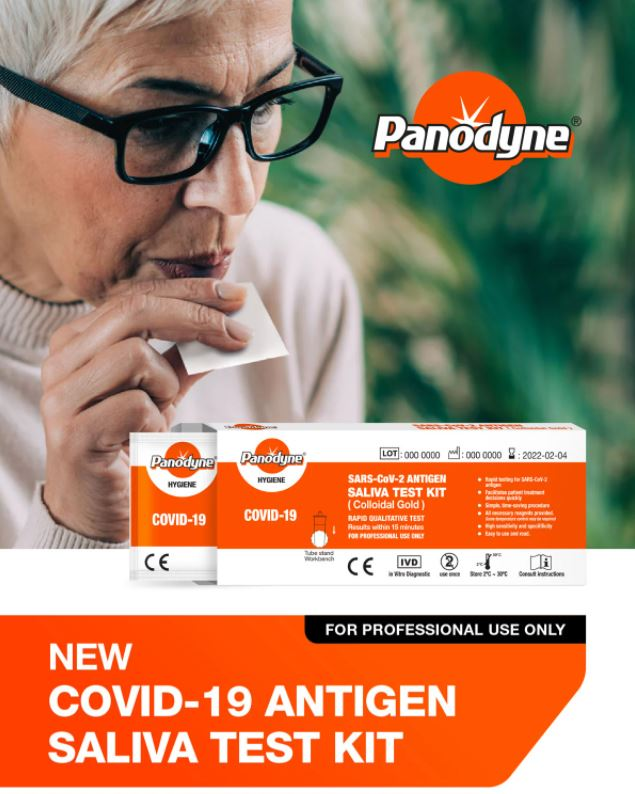 NEW! Introducing the non-invasive Panodyne Covid-19 Saliva Test Kit from Multibrands