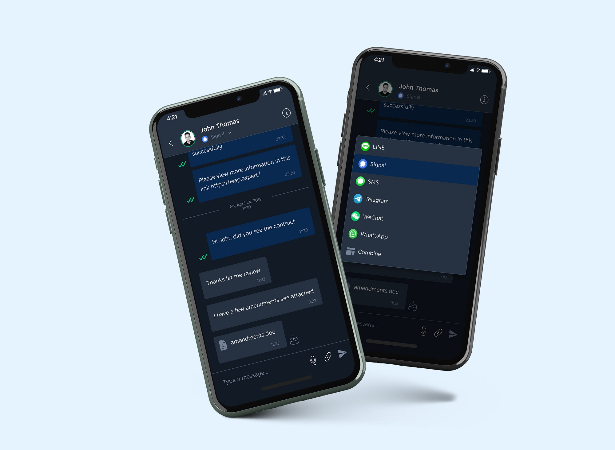 LeapXpert Expands Offering with Telegram and Signal