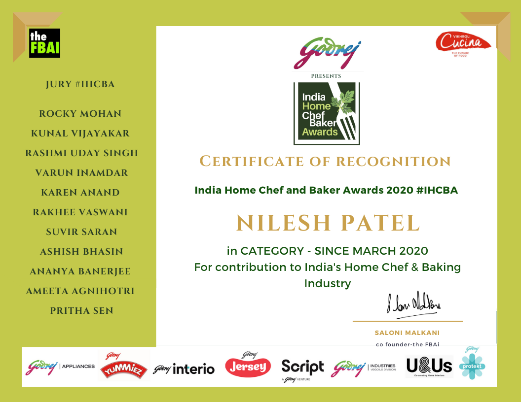 Nilesh & Nisha Patel, HomeChef from Surat, India awarded for creating cuisines differently in their home kitchen.