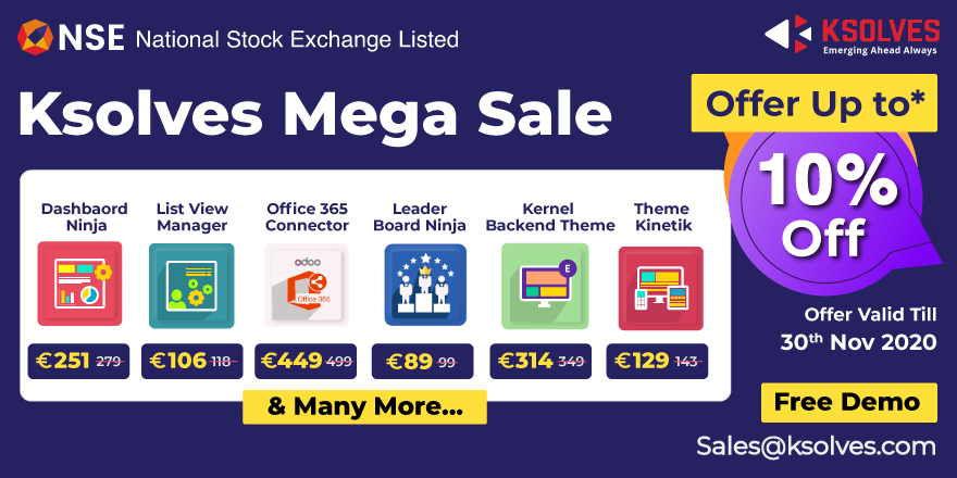 Ksolves Announces Mega Sale Discount on Odoo Apps and Themes