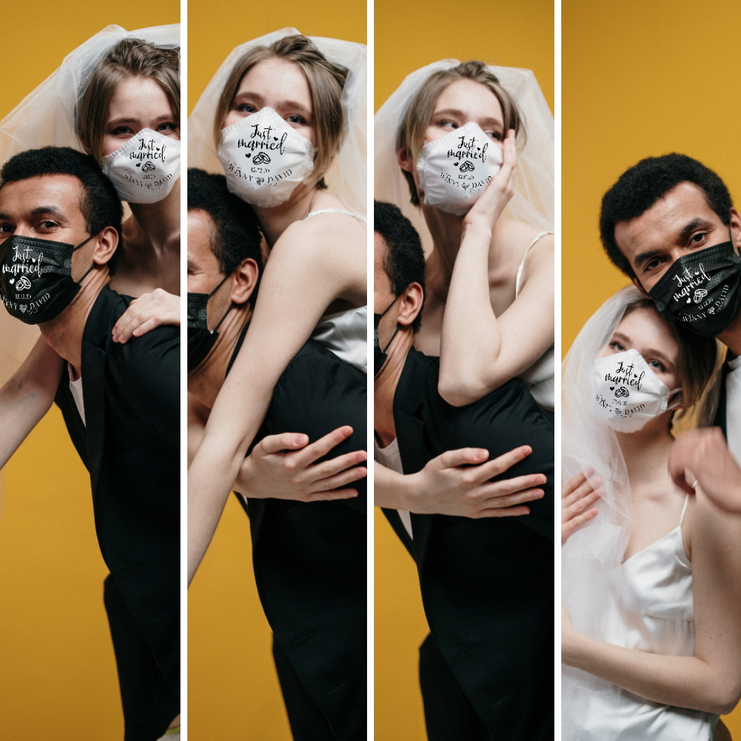Creators of Personalisedweddingmasks.com, aim to serve some joy during this global pandemic, with their range of quality personalized wedding face masks