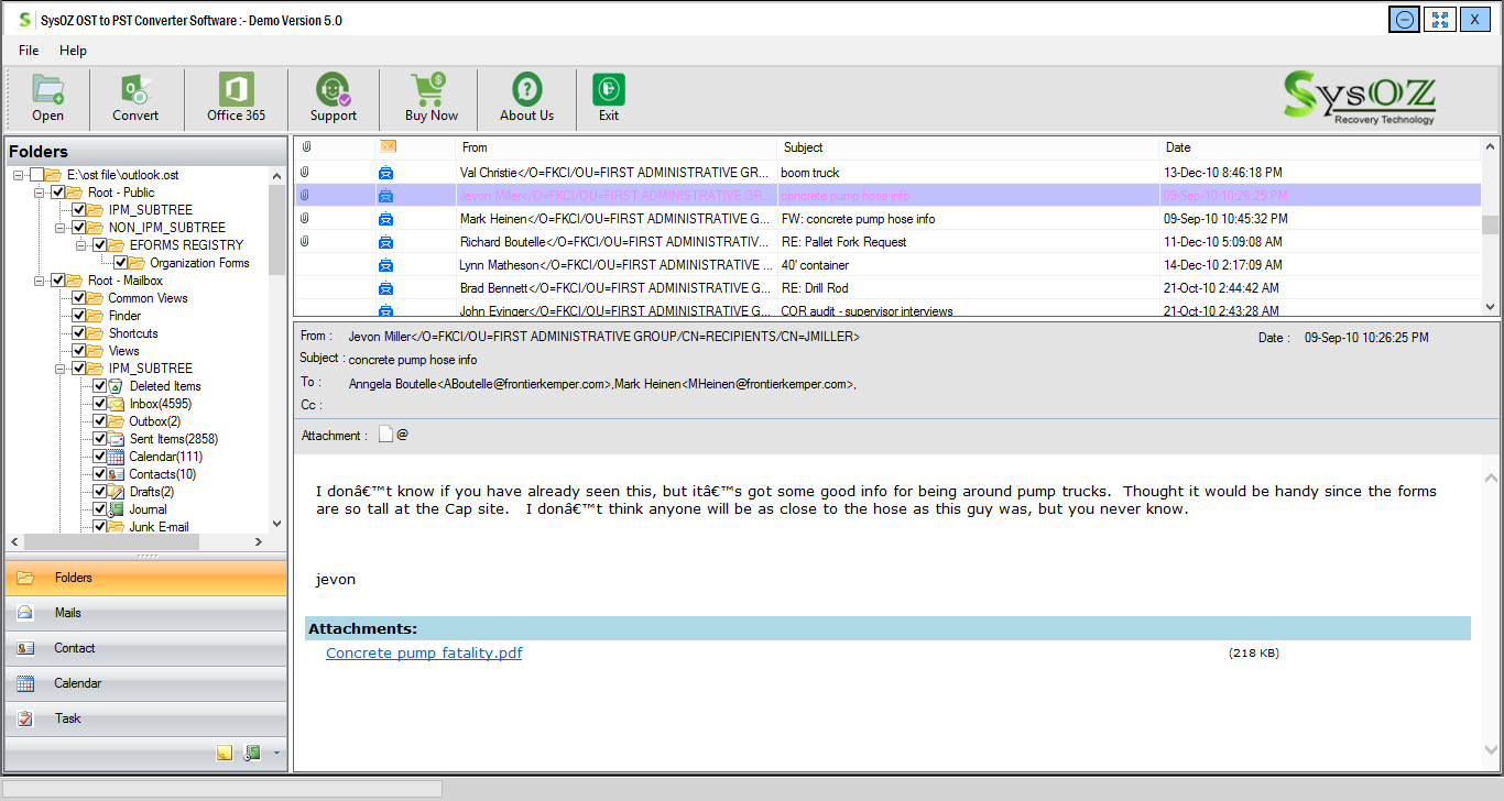 SysOZ Releases OST to PST Converter Software With Advance Features
