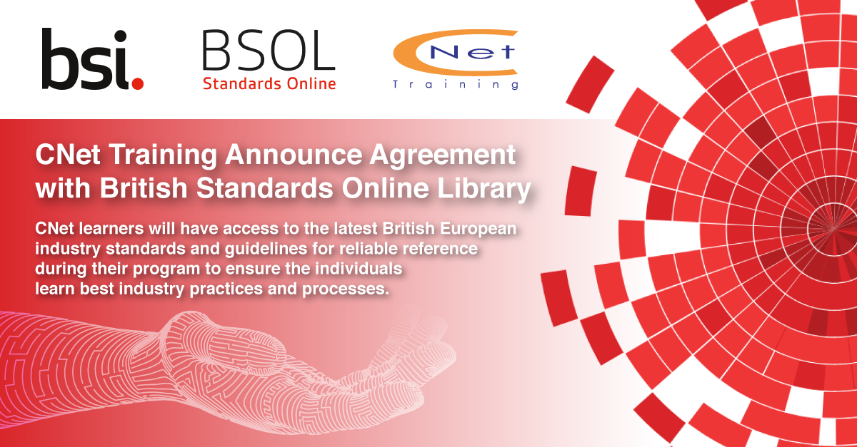 CNet Training Announce Agreement with British Standards Online Library (BSOL)
