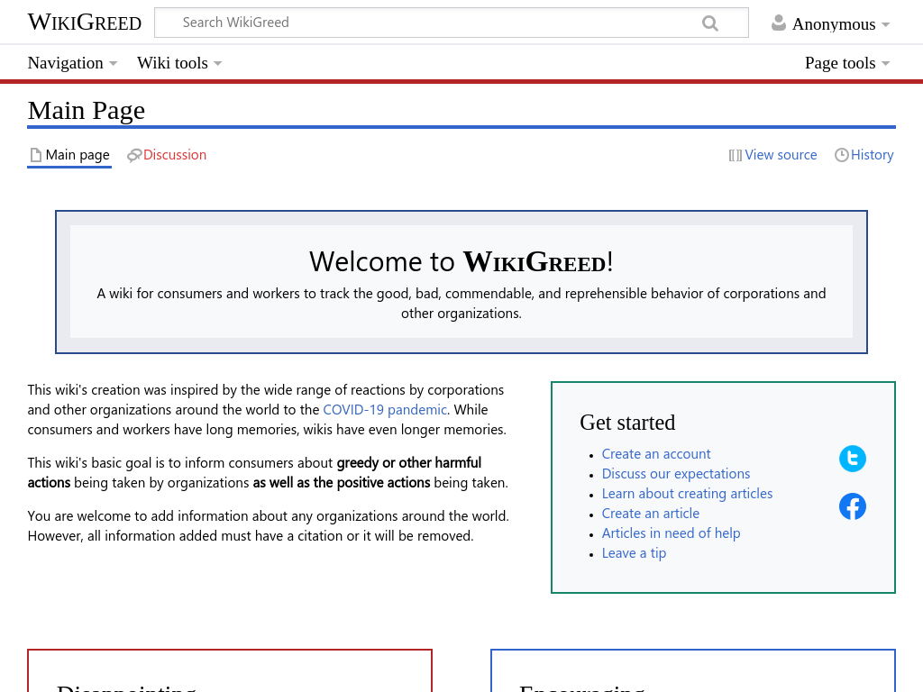 Wiki launched to track responses by corporations and other organizations during COVID-19 pandemic