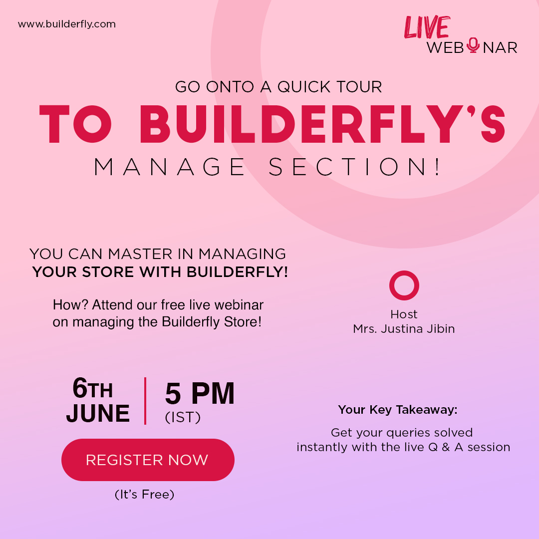 Builderfly – A Complete Ecommerce Solution is conducting its Third Consecutive Webinar