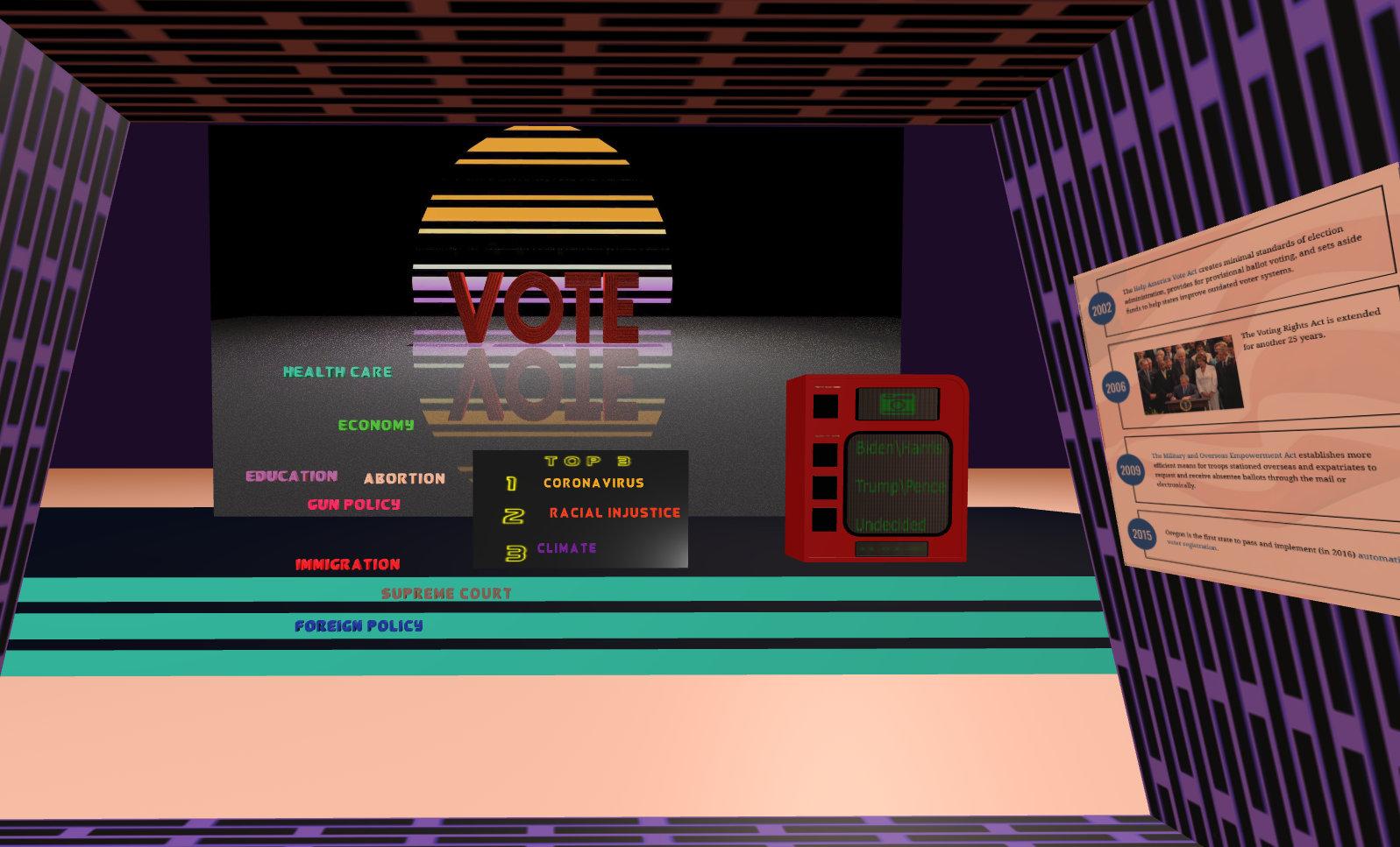 VoteXR: Virtual Reality USA Election Poll