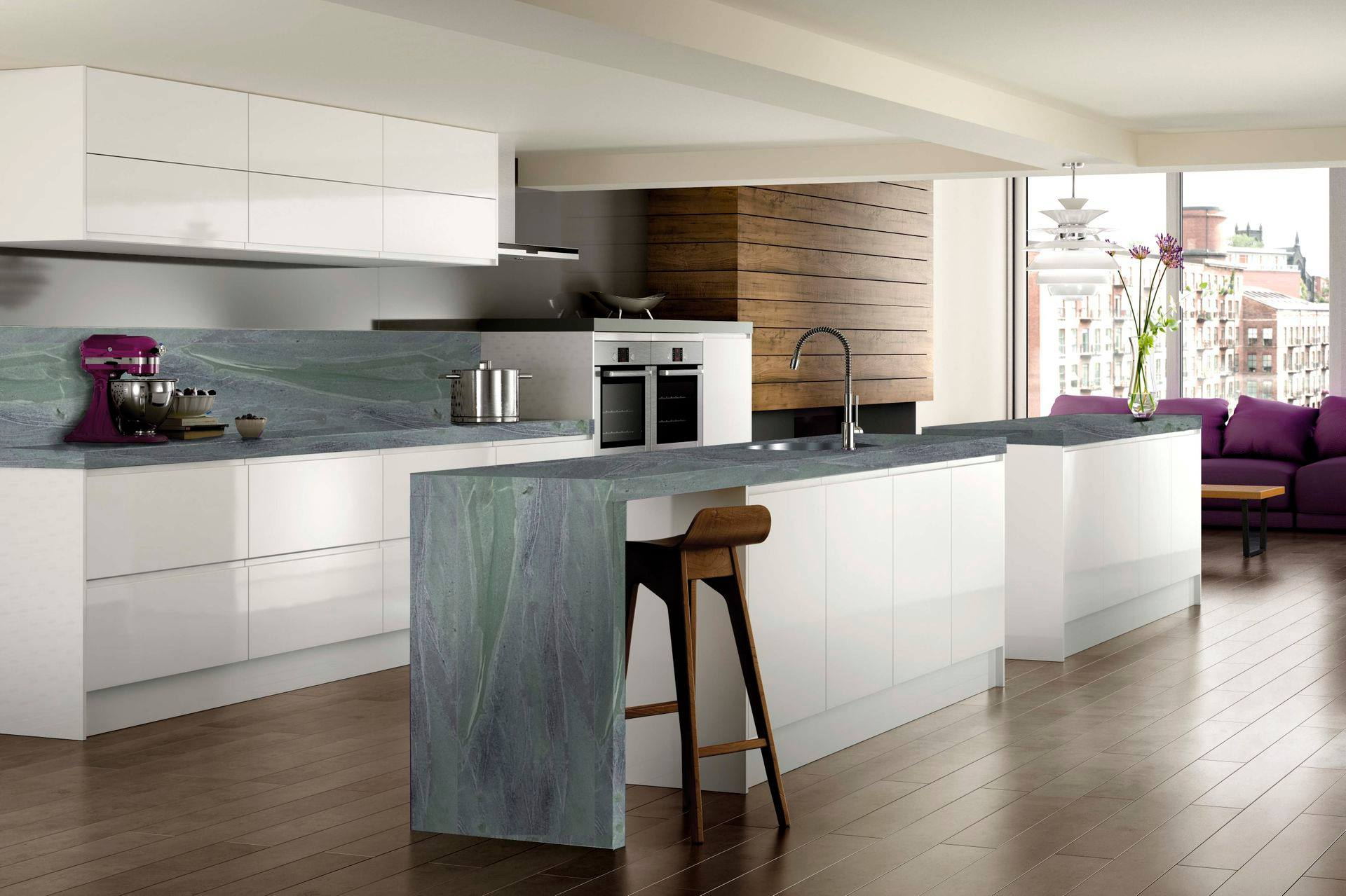 Mkw Surfaces Stocks The Widest Range Of High Gloss Black Kitchen Worktops