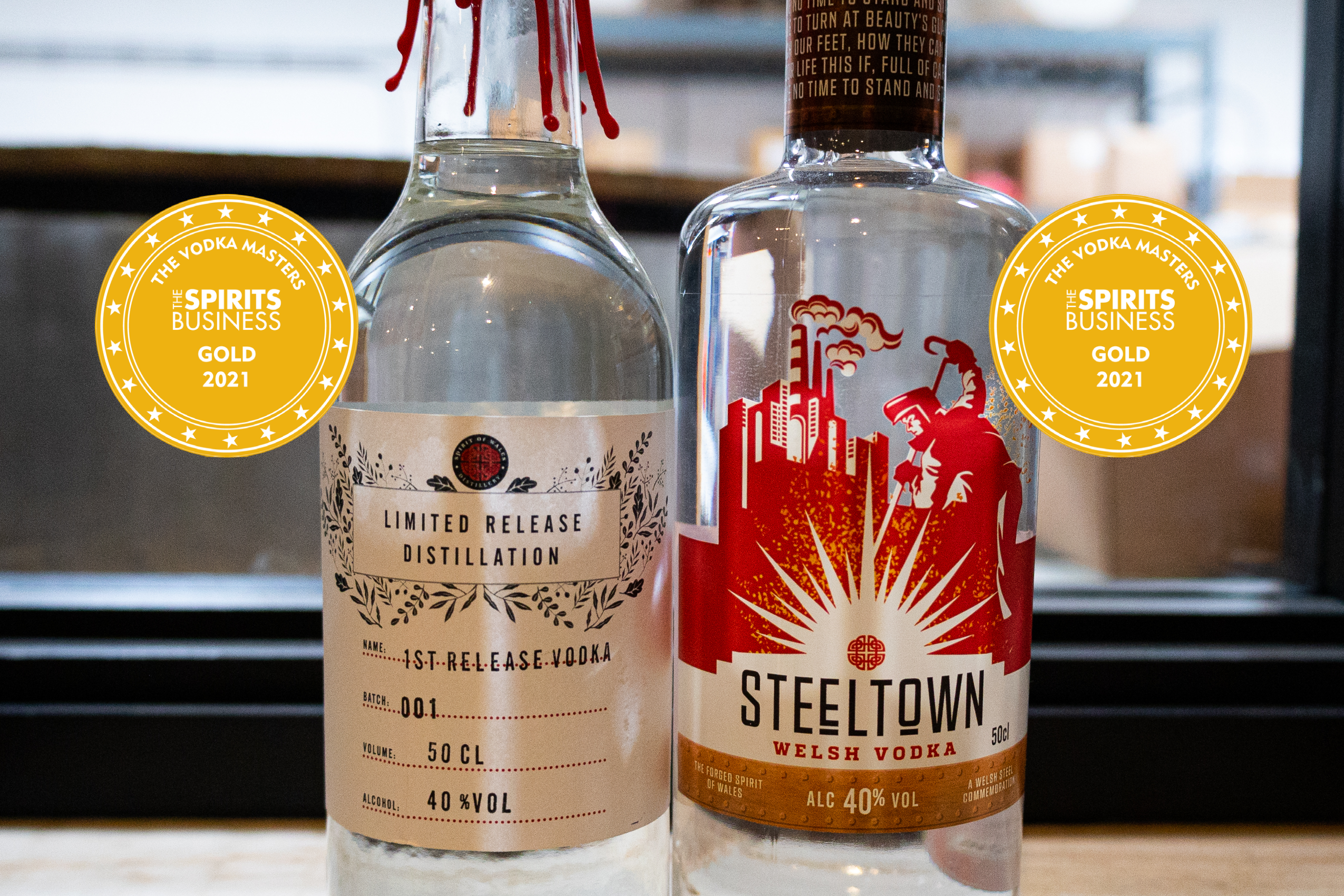 Spirit of Wales Distillery Wins Two Vodka Masters Gold Medals