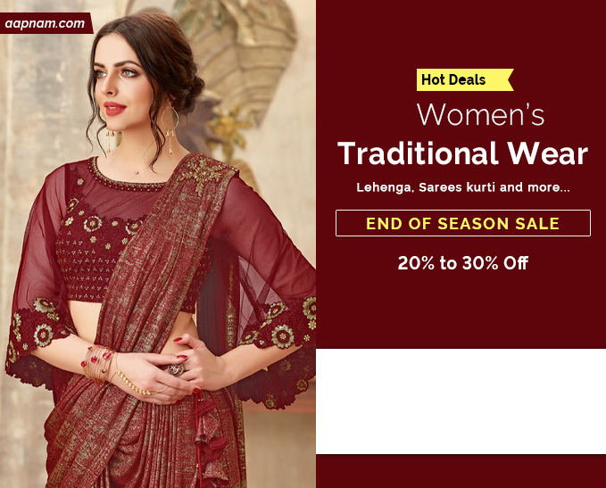 Aapnam announces the whole new launch of the Trendy Designer Sarees for online shopping in India
