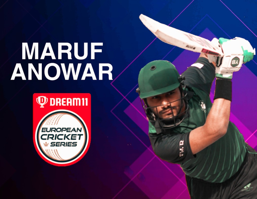 Maruf Anowar on Dream 11 European Cricket Series Rome 2020