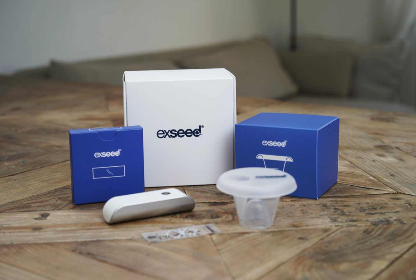 ExSeed puts men's fertility at the forefront with their at-home sperm tests.