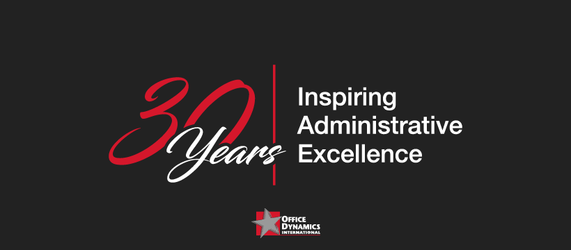ADMINISTRATIVE TRAINING PIONEER, OFFICE DYNAMICS INTERNATIONAL, CELEBRATES UNLIKELY 30-YEAR ANNIVERSARY